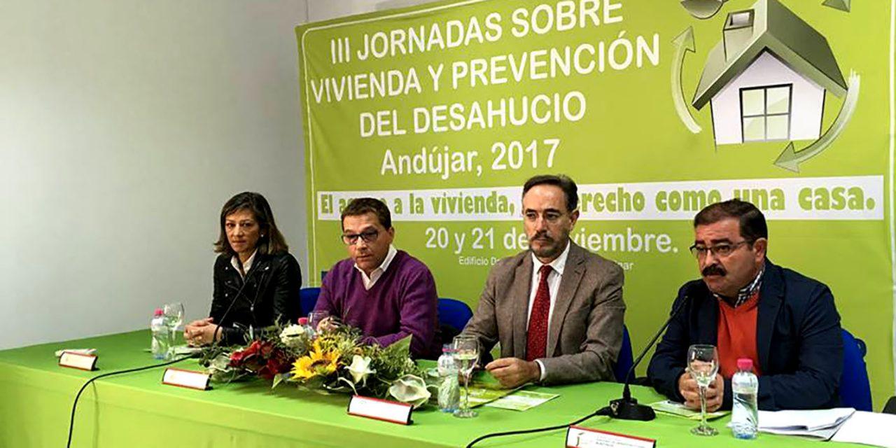 Comienzan las jornadas sobre vivienda y prevención de desahucios en Andújar