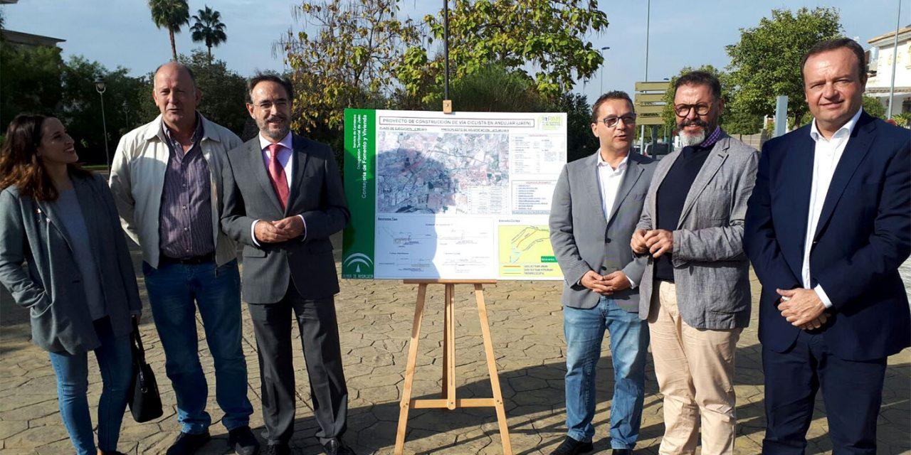 Comienzan las obras de una nueva vía ciclista en Andújar de 9,1 km