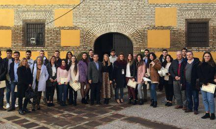 Un total de 38 jóvenes han participado este año en el Programa de Prácticas Formativas del Ayuntamiento de Andújar