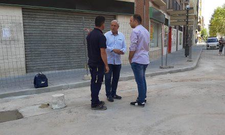 Avanzan las obras en la calle La Palma