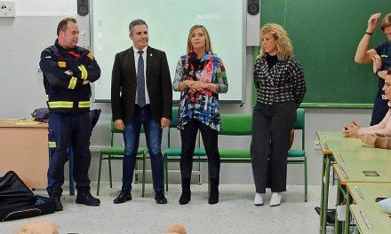 Los bomberos de Andújar forman a docentes en Lopera