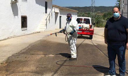 Andújar prosigue trabajando en la prevención del Coronavirus mejorando el dispositivo de desinfección y limpieza
