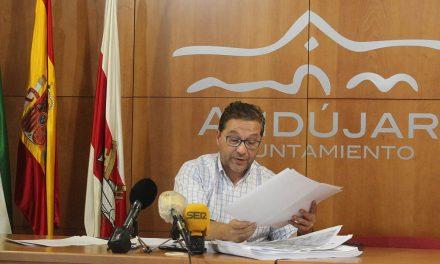 """Huertas demanda a la Junta de Andalucía """"trabajo conjunto"""" para el desarrollo del Centro Logístico Intermodal de Andújar"""