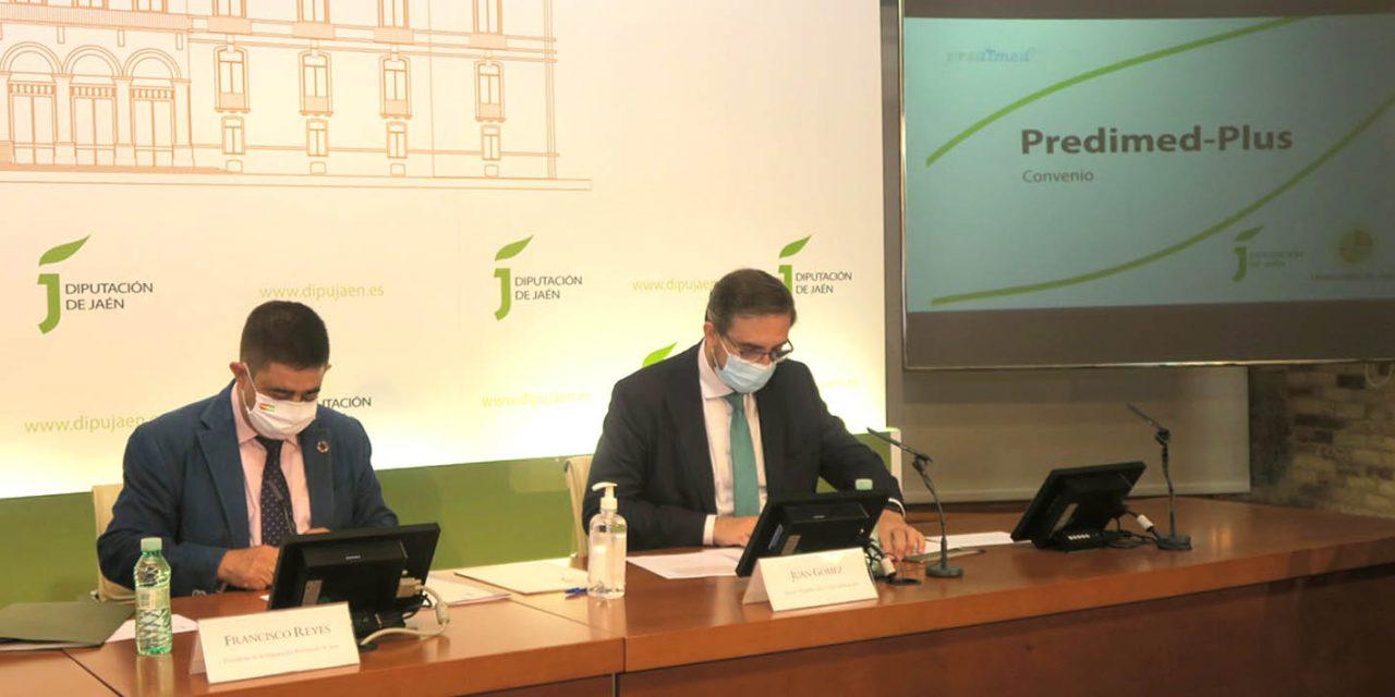 Diputación y UJA renuevan el convenio para desarrollar el Predimed-Plus y seguir dando razones para consumir AOVE