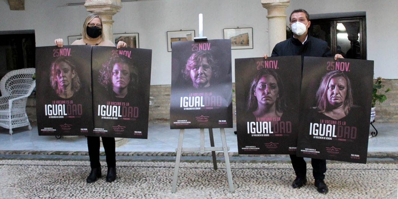 """Andújar conmemora el 25 de Noviembre con una campaña """"innovadora"""" que refleja la verdadera situa ción de las víctimas de violencia de género"""