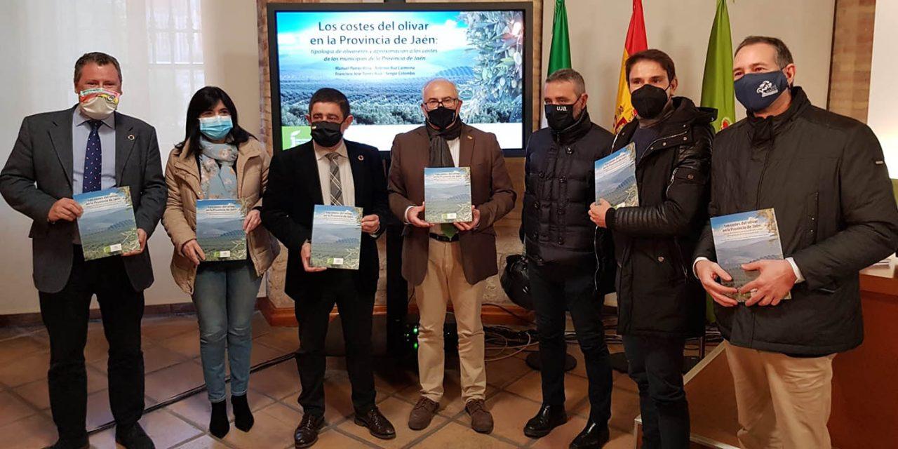 Diputación edita una publicación que recoge los costes que tienen los distintos tipos de olivar en la provincia
